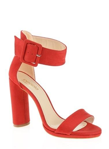 People By Fabrika Sandalet Kırmızı